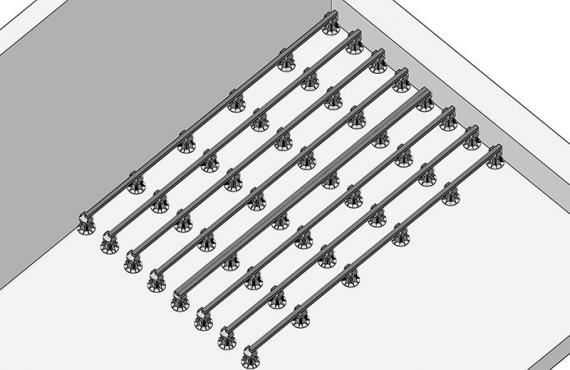Алюминиевые лаги на регулируемых опорах